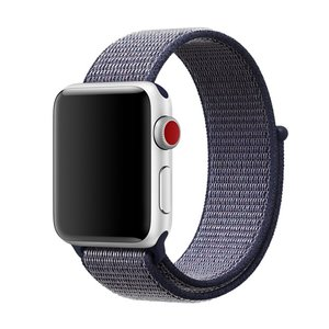 Sport loop Apple watch bandje 42mm / 44mm - Navy blauw