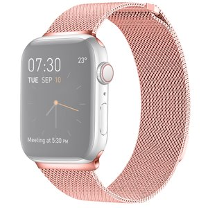 Milanees Apple watch bandje 42mm / 44mm RVS - Roze