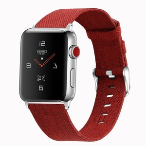 Apple Watch 42mm / 44mm - Canvas bandje - Rood