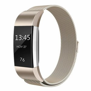 Fitbit Charge 2 milanese bandje (Small) - Vintage goud