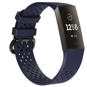 Fitbit Charge 3 & 4 sport bandje (large) - Donkerblauw