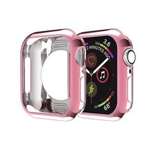 Apple watch 44mm siliconen case - Roze