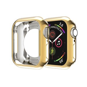 Apple watch 44mm siliconen case - Goud