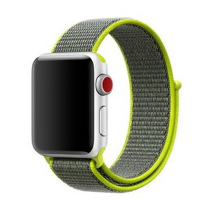 Apple Watch bandje 42mm / 44mm - Sport Loop bandje - Groen