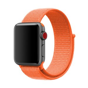 Apple Watch bandje 42mm / 44mm - Sport Loop bandje - Oranje