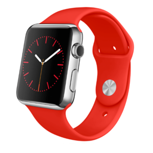 Apple watch 42mm / 44mm rubberen bandje sport - Rood