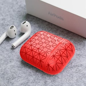 AirPods 1/2 hoesje triangle series - soft case - rood