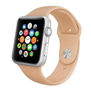 Apple watch 38mm / 40mm rubberen sport bandje - Beige