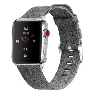 Apple Watch 42mm / 44mm - Canvas bandje - Grijs