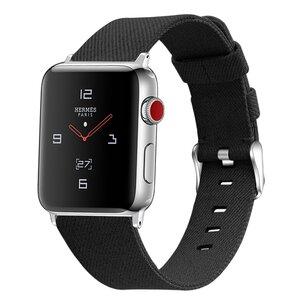 Apple Watch 42mm / 44mm - Canvas bandje - Zwart