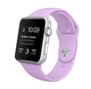 Apple watch 38mm rubberen sport bandje - Paars