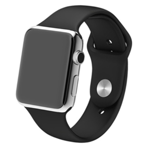 Apple watch 38mm rubberen sport bandje - Zwart