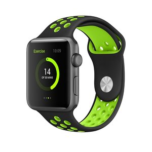Apple watch sportbandje 38mm / 40mm - Zwart + Groen