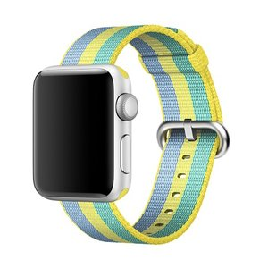 Nylon Apple watch 38mm / 40mm bandje - Geel / Groen / Blauw