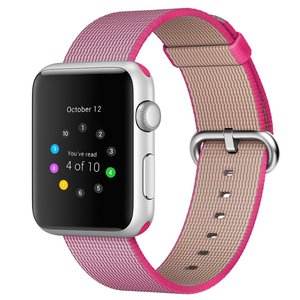 Nylon Apple watch 38mm / 40mm bandje - Roze