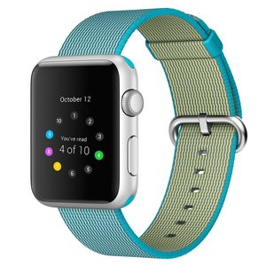 Nylon Apple watch 42mm / 44mm bandje - Blauw