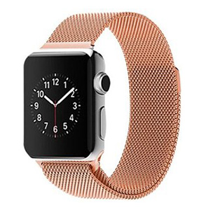 Milanees Apple watch bandje 42mm / 44mm RVS - Champagne goud
