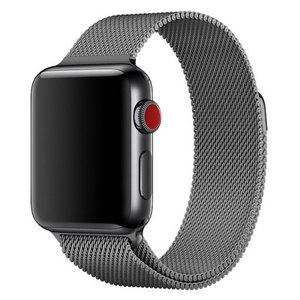 Milanees Apple watch bandje 42mm / 44mm RVS - Grijs