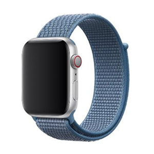 Sport loop Apple watch bandje 42mm / 44mm - Denim blauw