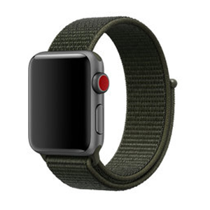Sport loop Apple watch bandje 42mm / 44mm - Leger groen