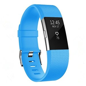 Fitbit Charge 2 sportbandje (Large) - Blauw